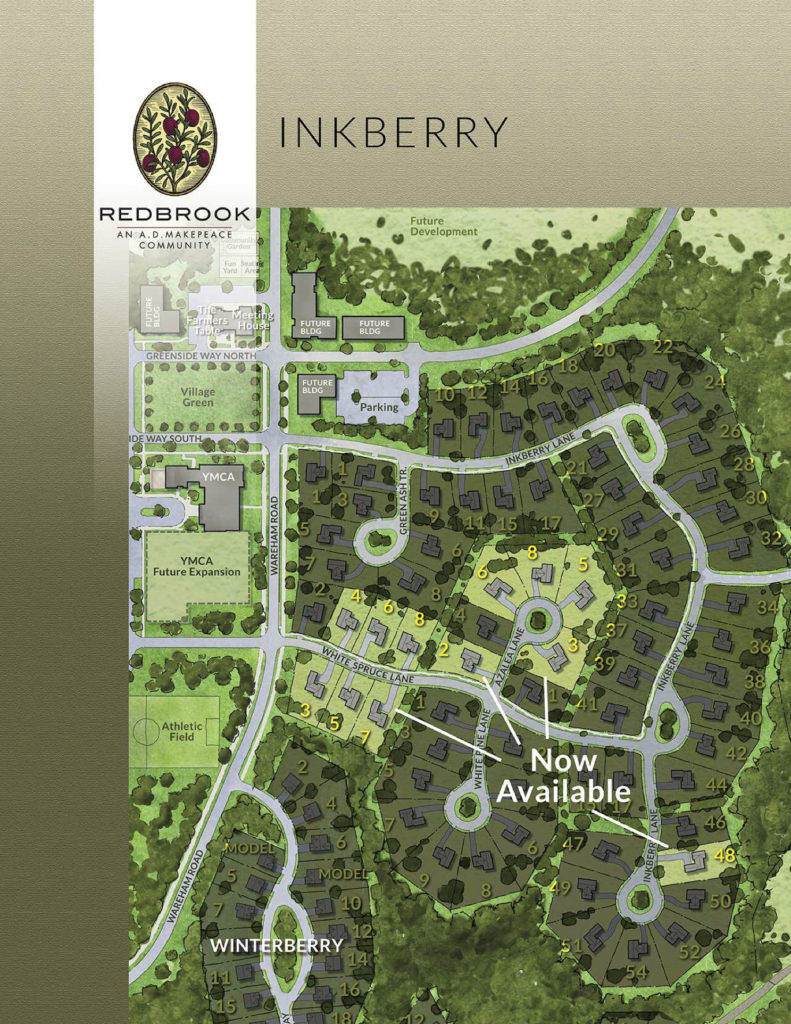 The map of available homes in the Inkberry neighborhood